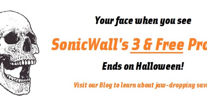 Free Firewalls with SonicWall 3 and free promo gets you a free firewall when you buy 3 year advanced gateway security suite with capture atp to prevent ransomware like petya and wannacry