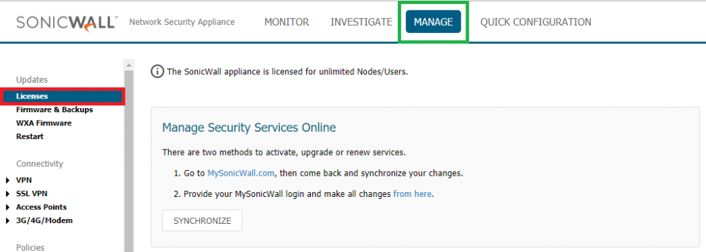 renew your sonicwall license expiration date location in mysonicwall