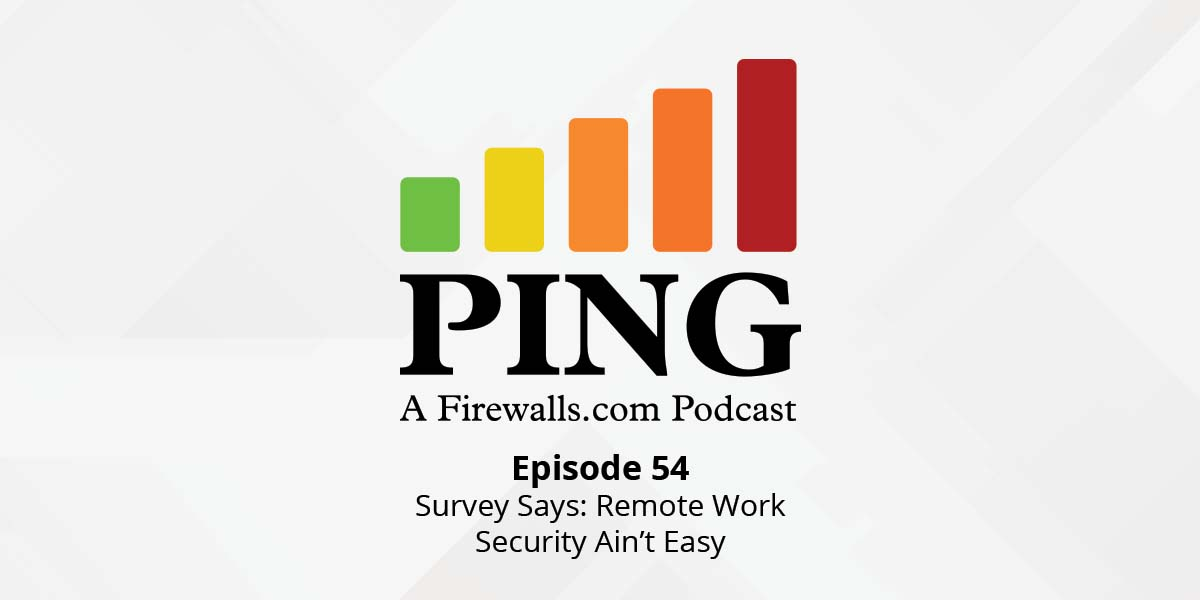 Survey Says: Remote Work Security Ain't Easy – Ping Podcast – Episode 54